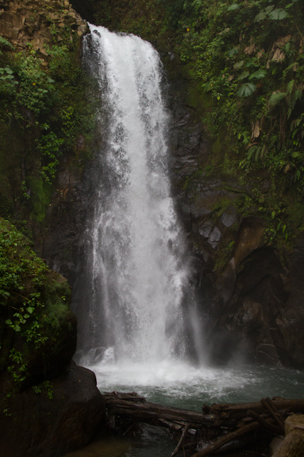 The waterfalls at La Paz