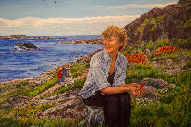 Selma Barkham: Painting at the National Historic Site, Red Bay