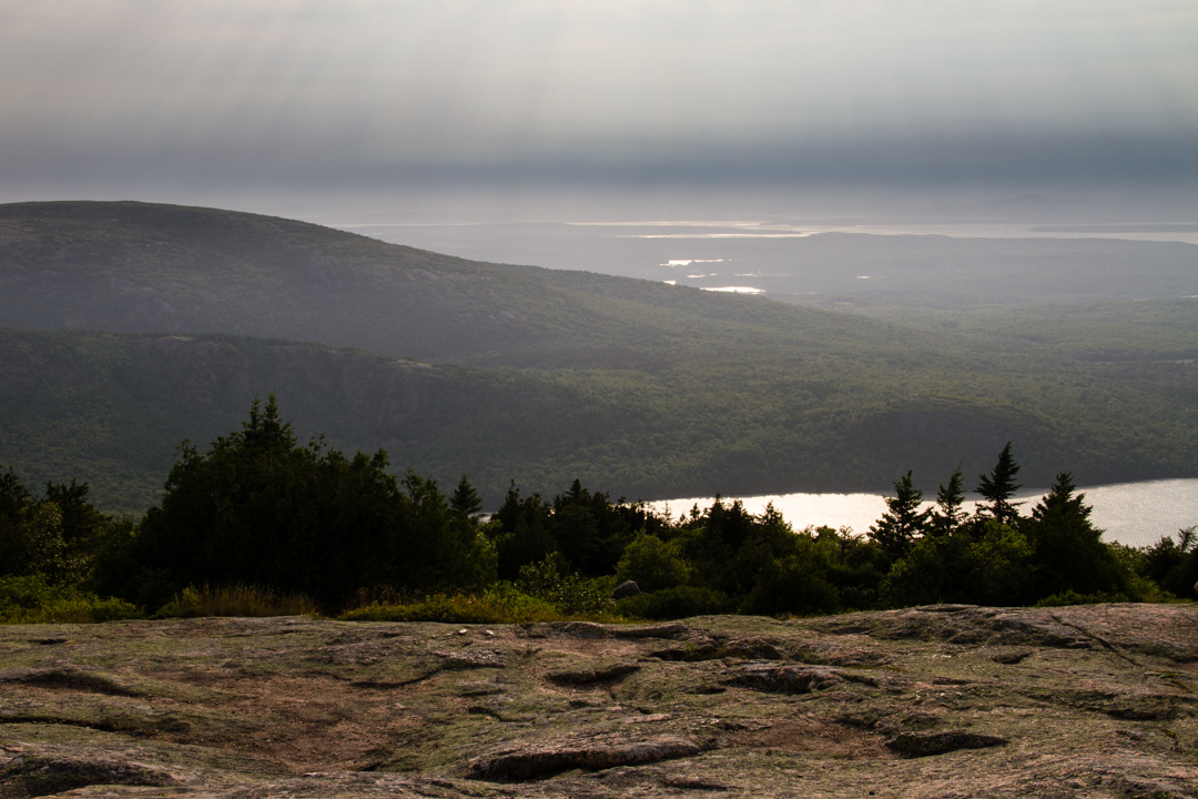 Late afternoon sun from Cadillac Mountain