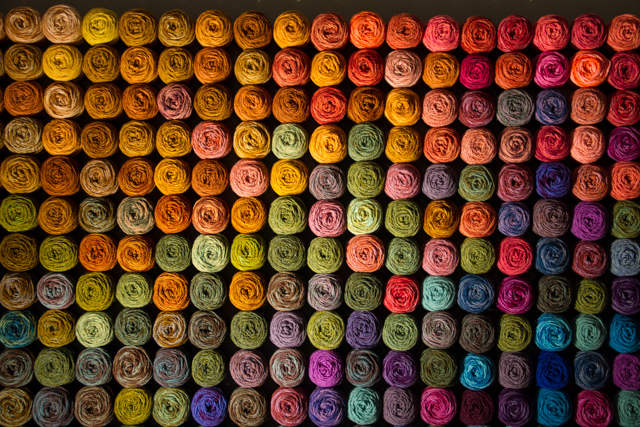 Discovery Centre Art Exhibit: Coloured skeins