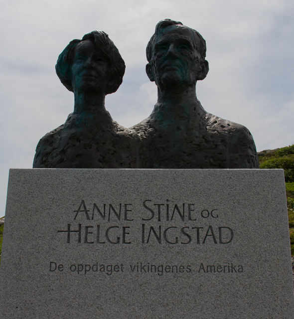 Helge Instad and Anne Stein: The archeologists who discovered and unearthed the site