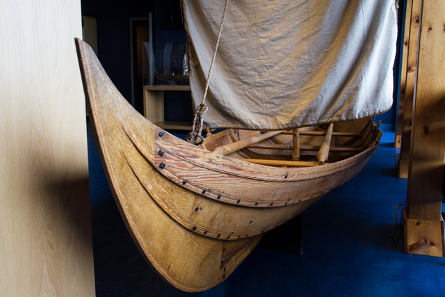 Model of the type of craft used by the seafarers