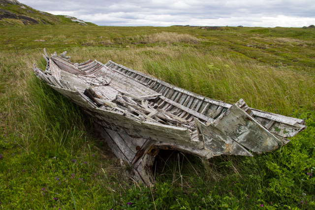 Abandoned boat, Saddle Island, REd Bay