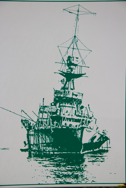 HMS Raleigh, sketch