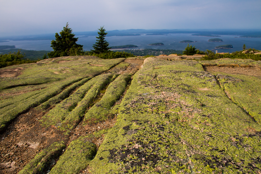 Atop Cadillac Mountain, Acadia National Park.