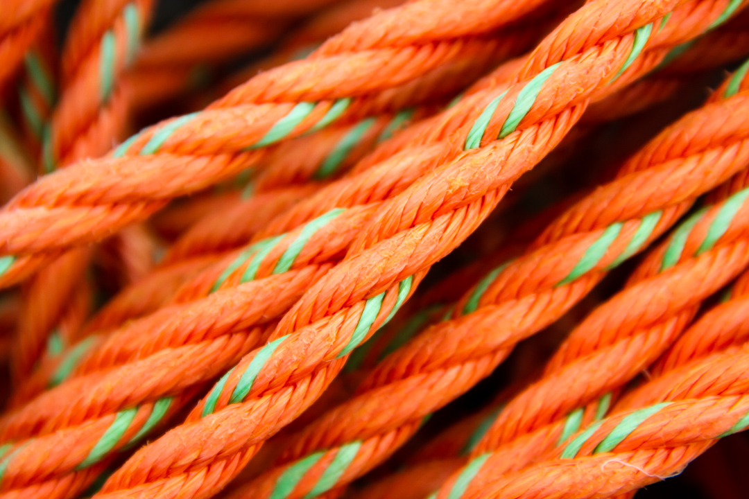 Rope pile: detail